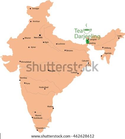 Darjeeling In India Map Darjeeling In India Map | woestenhoeve