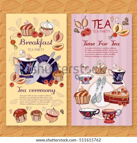 tea menu design package time tea stock vector royalty free