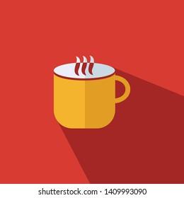 Tea mug sign icon - Flat vector