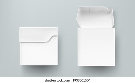 Tea package mockup, paper or carton box front view
