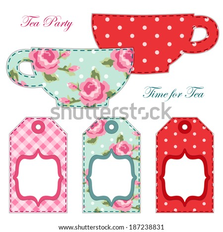 Tea Party Printables As Labels Or Tags In Shabby Chic Style
