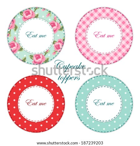 Tea Party Printables As Labelscupcake Toppers Or Tags In Shabby Chic Style