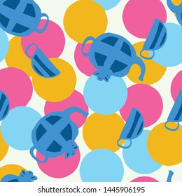 tea party seamless pattern design. Perfect for party, illustration or homeware.