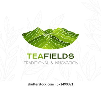 Tea plantation logo. Conceptual icon for package design