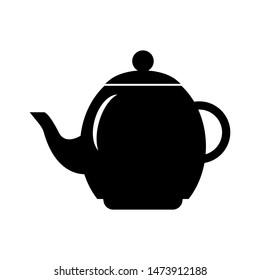 Tea pot icon vector design template