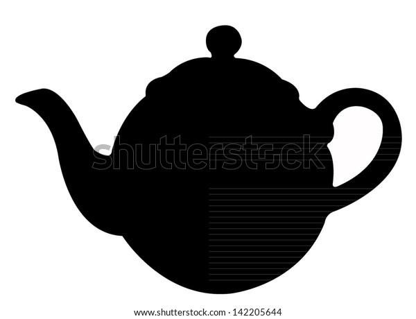 Tea Pot Silhouette Vector Stock Vector (Royalty Free ...