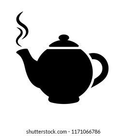 Tea pot vector pictogram illustration isolated on white background