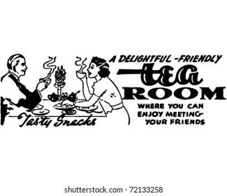 Tea Room - Retro Ad Art Banner