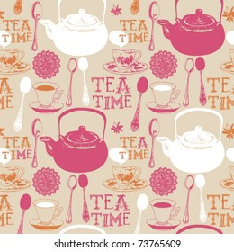 tea seamless background