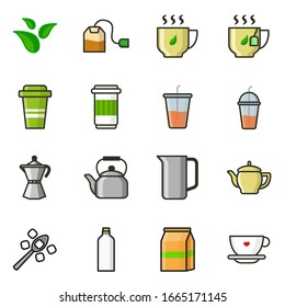 Tea Set Icons for your project