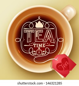 Tea time design template