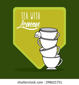 tea time design, vector illustration eps10 graphic