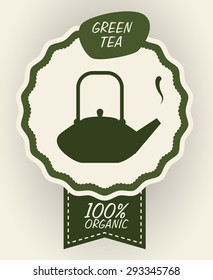 Tea time digital design, vector illustration 10 eps graphic