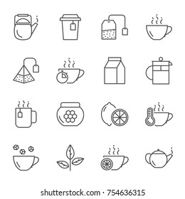Tea vector icons set