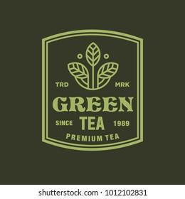 tea - vector logo/icon illustration label