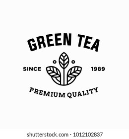 tea - vector logo/icon illustration label