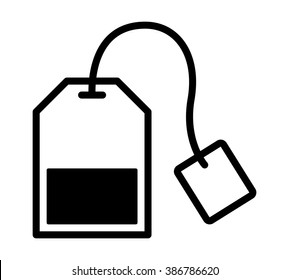 Teabag / tea bag line art vector icon for apps and websites