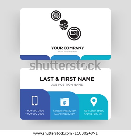 Teacher business card design template visiting stock vector royalty teacher business card design template visiting for your company modern creative and clean accmission Images