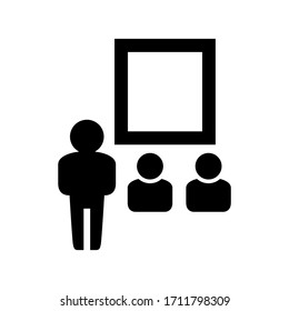 teacher icon or logo isolated sign symbol vector illustration - high quality black style vector icons
