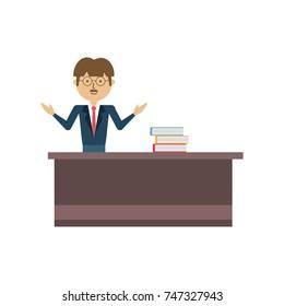 teacher man  vector illustration