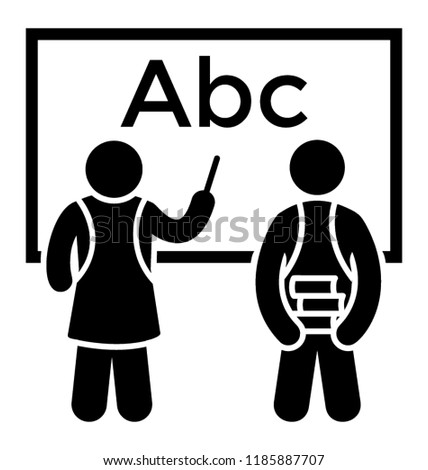 Teacher Teaching Abc To Student A Notion For English Class
