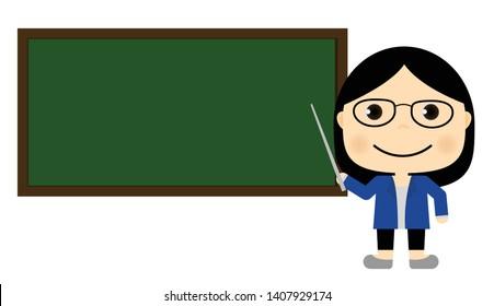 The teacher is teaching student books.