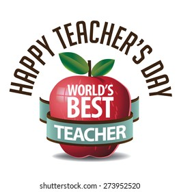 Teachers Day icon EPS 10 vector royalty free stock illustration for greeting card, ad, promotion, poster, flier, blog, article, social media, marketing