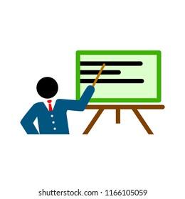 teaching board icon - vector school blackboard - classroom sign and symbol