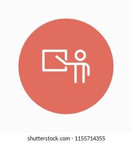 teaching icon vector