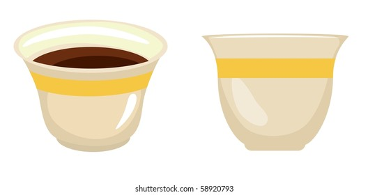 Tea/Coffee Cups-vector