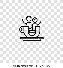teacup icon from amusement park collection for mobile concept and web apps icon. Transparent outline, thin line teacup icon for website design and mobile, app development