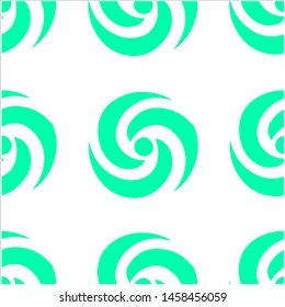 Teal Abstrak Seamless Pattern on a White Background