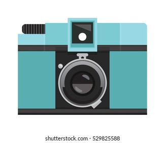 Teal Analog Film Camera
