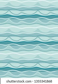 Teal green seamless organic stripes pattern tile with hand drawn irregular stripes for creative textile and surface design templates, fabric, background, wallpaper, backdrop & covers. tile is seamless