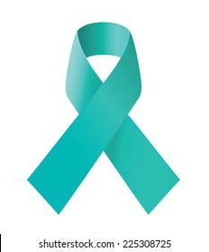Teal ribbon - symbol of scleroderma, ovarian cancer, food allergy, tsunami victims, kidney disease, sexual assualt.