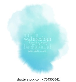 teal water color splash