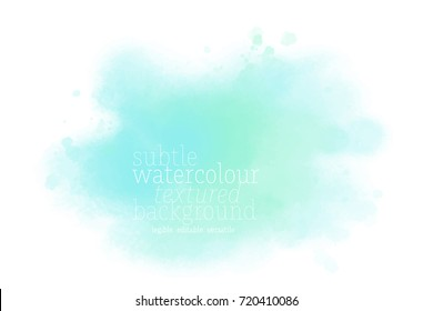 teal watercolor splotch