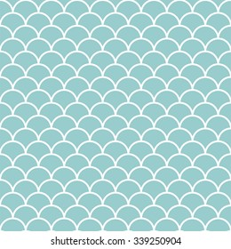 Teal and white scales pattern vector