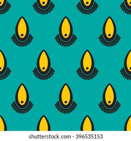 Teal yellow and black droplets