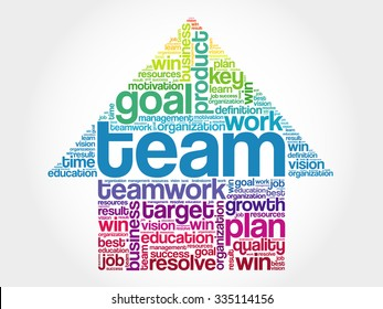 TEAM Arrow Word Cloud, business concept