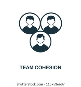 Team Cohesion creative icon. Simple element illustration. Team Cohesion concept symbol design from project management collection. Can be used for mobile and web design, apps, software, print.