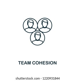 Team Cohesion outline icon. Premium style design from project management icons collection. Simple element team cohesion icon. Ready to use in web design, apps, software and printing.