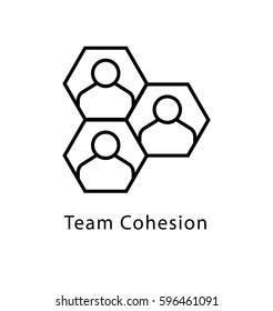Team Cohesion Vector Line Icon