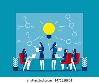 Team cohesiveness and creative. Concept business vector illustration, Employees engagement, Cohesion.