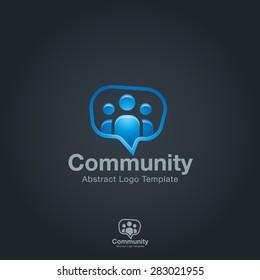 Team Community Partners logo template. Social Network Corporate branding identity
