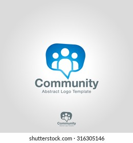 Team Community Partners logo template. Social Network Corporate branding identity