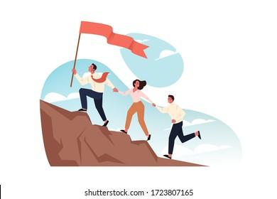 Team, goal, motivation, business startup, leadership concept.