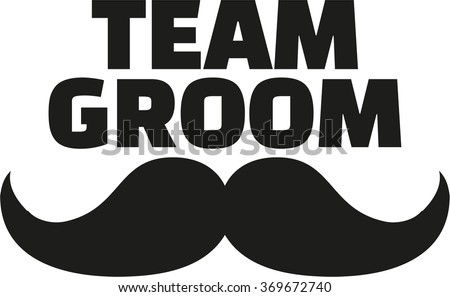 Team Groom with mustache