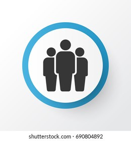 Team Icon Symbol. Premium Quality Isolated Group Element In Trendy Style.