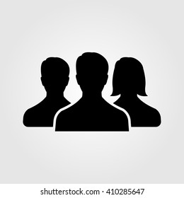 team, icon vector, people solid illustration, pictogram isolated on white